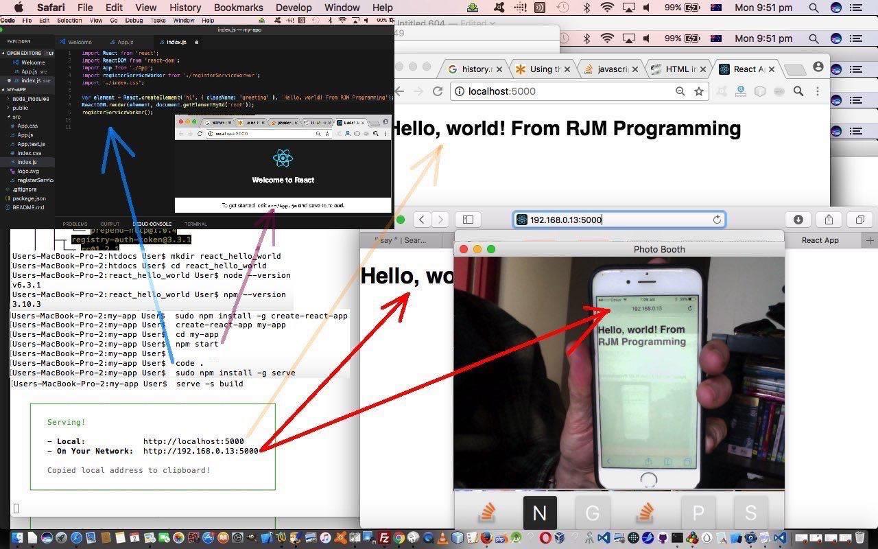 React Javascript Library on Node and Visual Studio Code Hello World