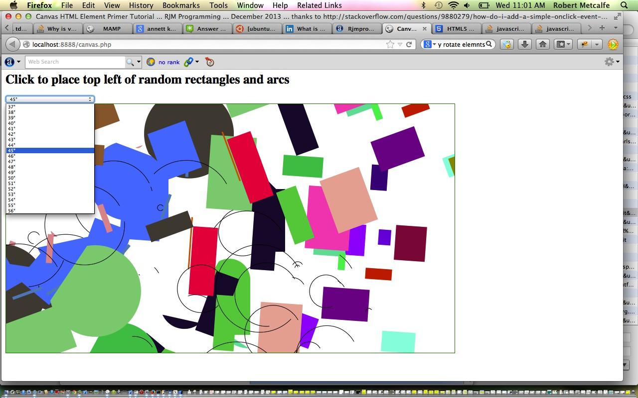 PHP/HTML/Javascript Canvas Rotation Tutorial | Robert