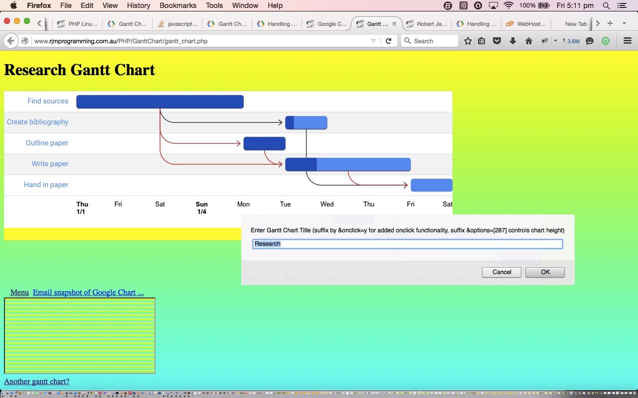 Google Chart Gantt Chart Primer Tutorial Robert Metcalfe Blog