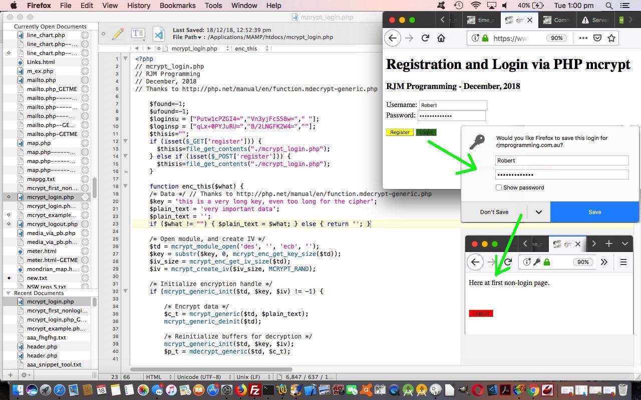 Registration and Login via PHP Mcrypt Primer Tutorial