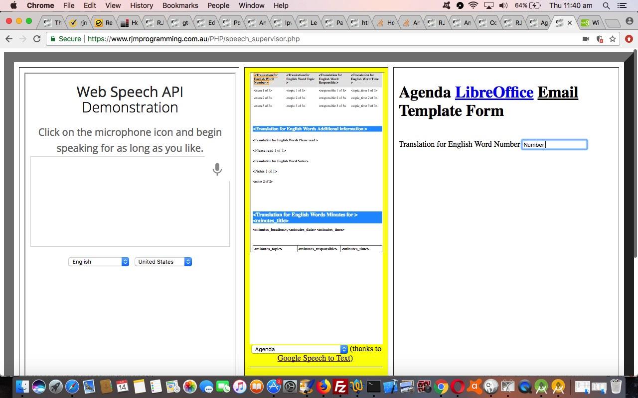 Contextualize Speech to Text to Speech LibreOffice Template Tutorial
