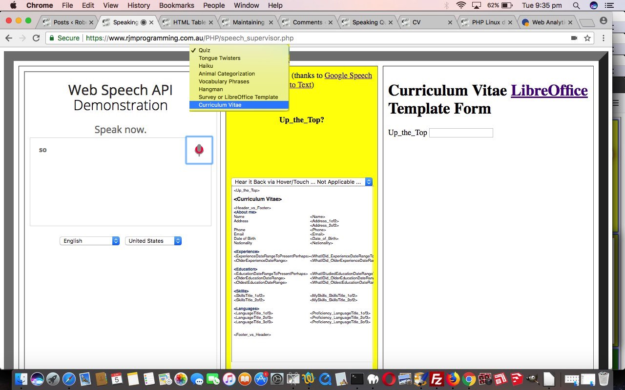 Curriculum Vitae Speech to Text LibreOffice Tutorial